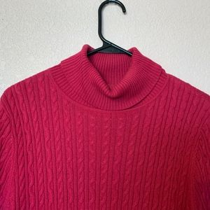 Pink Cable Knit Light Sweater